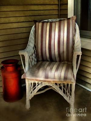 Night On The Porch Art Print by RC DeWinter