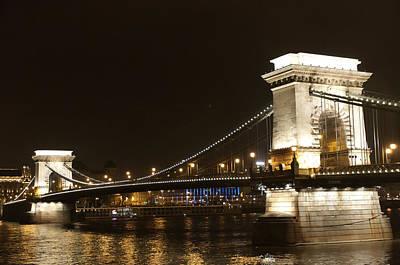 Photograph - Night On The River Danube by Brenda Kean