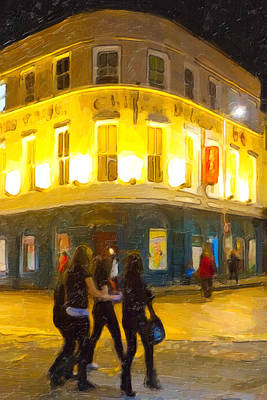 Photograph - Night On The Town In Galway by Mark E Tisdale