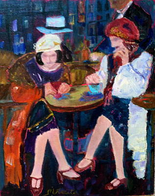 Painting - Night On The Town by MaryAnne Ardito