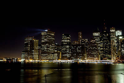 Photograph - Night On The Waterfront by Sara Hudock