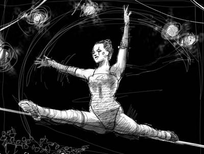 Night On The Wire Art Print