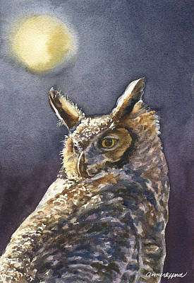 Painting - Night Owl by Anne Gifford