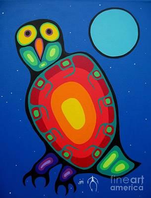 Night Owl Print by Jim Oskineegish