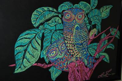 Night Owls Art Print by Lorinda Fore