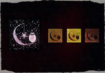 Night Owls Art Print by Sherry Flaker