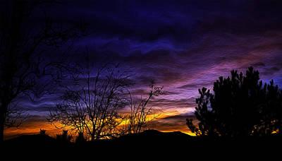 Night Paints The Sky Art Print by Nancy Marie Ricketts