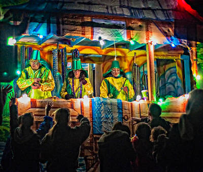 Mardi Gras Photograph - Night Parade 2 by Steve Harrington