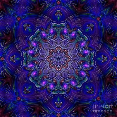 Art Print featuring the digital art Night Party 3d Art by Hanza Turgul