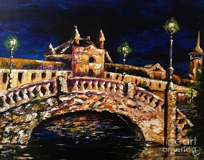 Art Print featuring the painting Night Passage by Karen  Ferrand Carroll