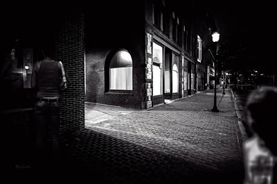 Photograph - Night People Main Street by Bob Orsillo