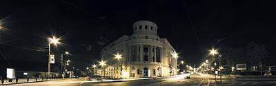 Photograph - Night Photo Of Central Library Mihai Eminescu In Iasi - Romania by Vlad Baciu