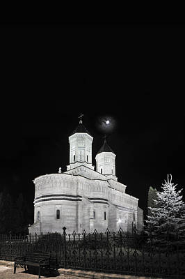 Photograph - Night Photo Of Orthodox Church Three Holy Hierarchs In Iasi - Romania by Vlad Baciu
