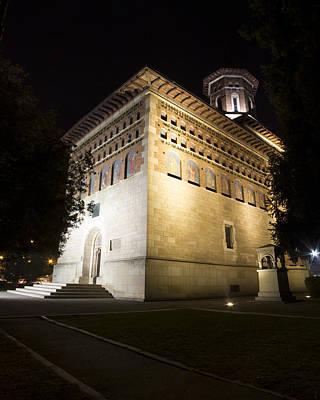 Photograph - Night Photo Of Princely Church Of Saint Nicholas In Iasi - Romania by Vlad Baciu