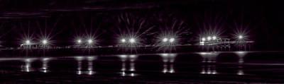 Nautical Animals - Night Pier Purple by Photos By  Cassandra