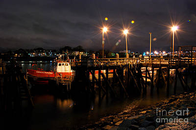 Night Pier Art Print