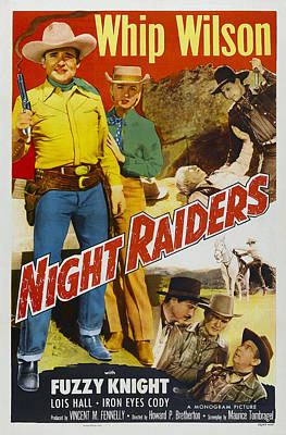 Iron Eyes Cody Photograph - Night Raiders, Us Poster, Top From Left by Everett