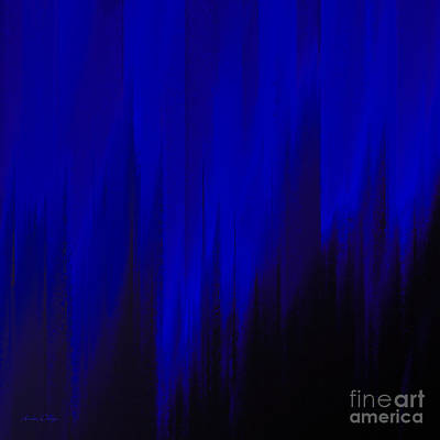 Rain Digital Art - Night Rain by Andee Design