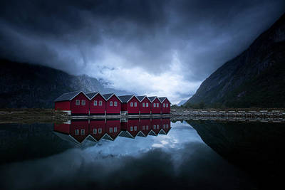 Norway Wall Art - Photograph - Night Reflection by Andreas Christensen
