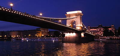 Photograph - Night Reflection Budapest by Caroline Stella