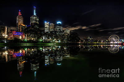 Photograph - Night Reflections I by Ray Warren