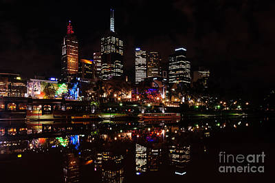Photograph - Night Reflections IIi by Ray Warren