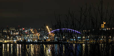 Photograph - Night Reflections Of Centurylink Field  by E Faithe Lester