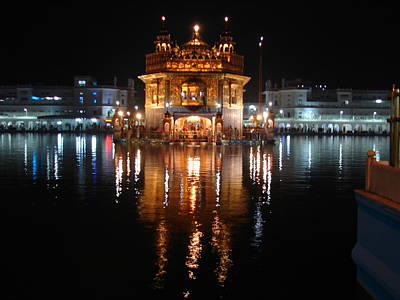 Photograph - Night Reflections At Golden Temple-2 by Anand Swaroop Manchiraju