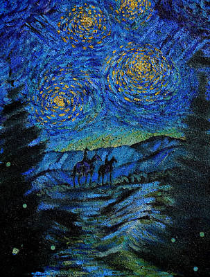 Night Ride Down From High Trampas Lake Original by Anastasia Savage Ealy