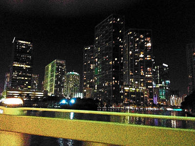 Photograph - Night Ride Miami by Strangefire Art       Scylla Liscombe