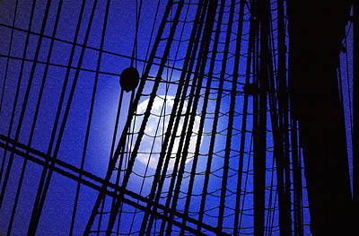 Art Print featuring the photograph Night Rigging by Mike Flynn