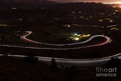 Photograph - Night Road by Eugenio Moya