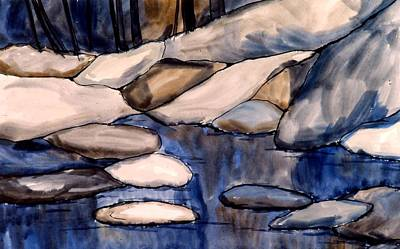 Painting - Night Rocks by Kendall Kessler