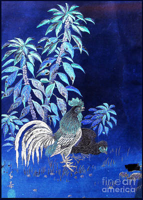 Night Rooster Art Print by JCYoung MacroXscape
