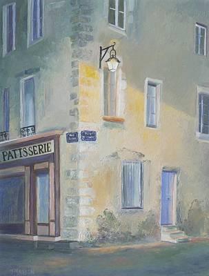 Arles Painting - Night Scene In Arles France by Jan Matson