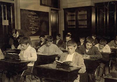 Night School, 1909 Art Print by Granger