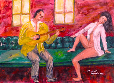 Painting - Night Serenade by Mounir Mounir