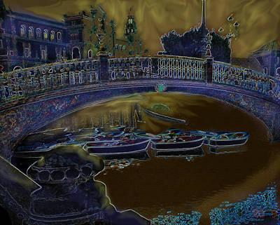 Digital Art - Night Shadows In Saville by Ian  MacDonald