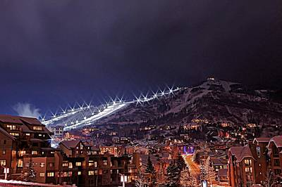 Photograph - Night Ski Area by Matt Helm