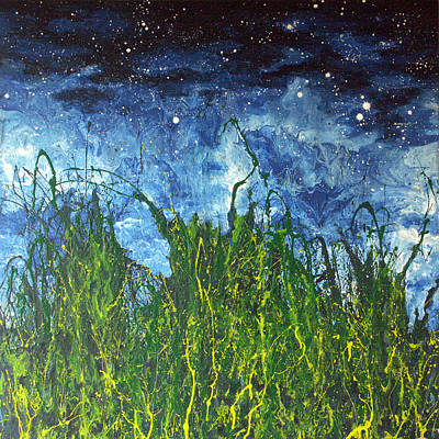 Painting - Night Sky 2007 by Michael Heikkinen