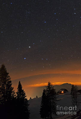 Snowy Night Photograph - Night Sky, Carinthia, Austria by Babak Tafreshi