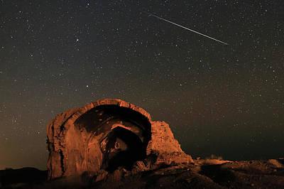 Night Sky Over Ancient Ruins Art Print