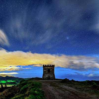 Azores Photograph - Night Sky Over Castelo Branco by Babak Tafreshi