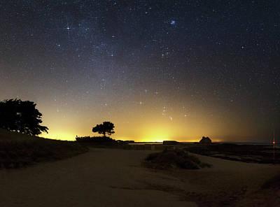 Night Sky Over Coastal Sands Art Print