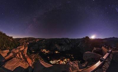 Night Sky Over Glacier Point Art Print by Babak Tafreshi