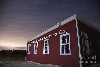 Night Sky Over Glen Haven Art Print by Twenty Two North Photography