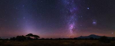 Night Sky Over Mount Kilimanjaro Art Print