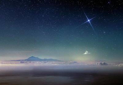 Sirius Photograph - Night Sky Over Mount Teide by Babak Tafreshi