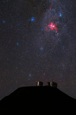 Night Sky Over Paranal Observatory Art Print