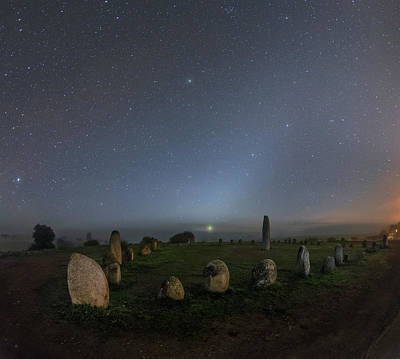 Megalith Photograph - Night Sky Over Stone Circle by Babak Tafreshi